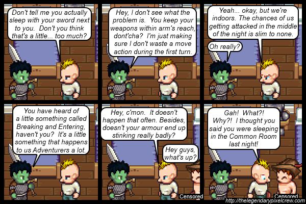 """Strip 262 - """"Uncomfortable and too comfortable"""""""