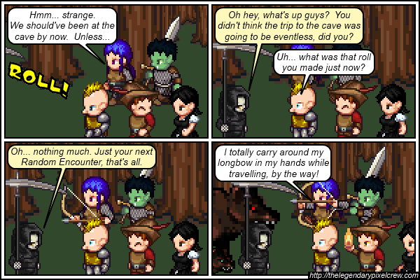 """Strip 276 - """"Time for another Random Encounter"""""""