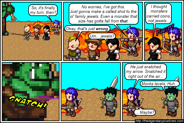 """Strip 301 - """"Actually, you don't need Monk levels to do that"""""""