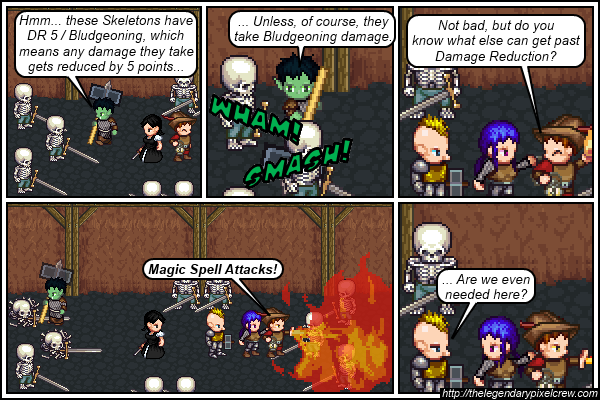 "Strip 383 - ""How to bypass Damage Reduction"""