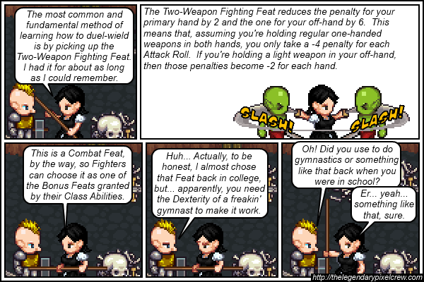 """Strip 388 - """"Two-Weapon Fighting part 2"""""""