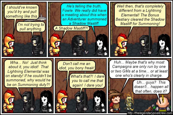 "Strip 402 - ""Lots of argueinig with nothing getting done..."""