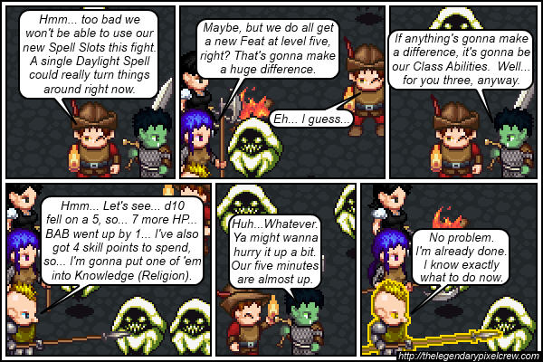 "Strip 419 - ""Leveling up normally takes way longer than that"""
