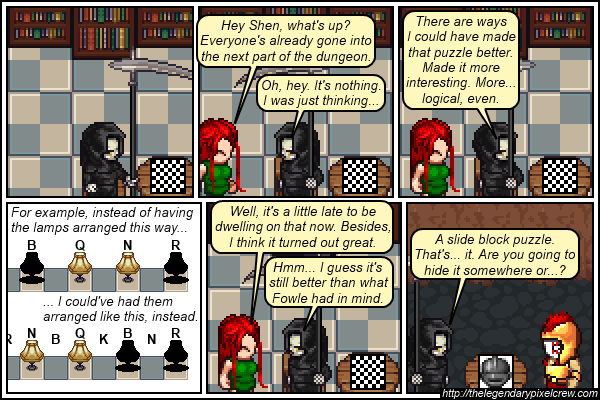 "Strip 557 - ""At least he didn't go a reflavoured Knights and Knaves puzzle"""