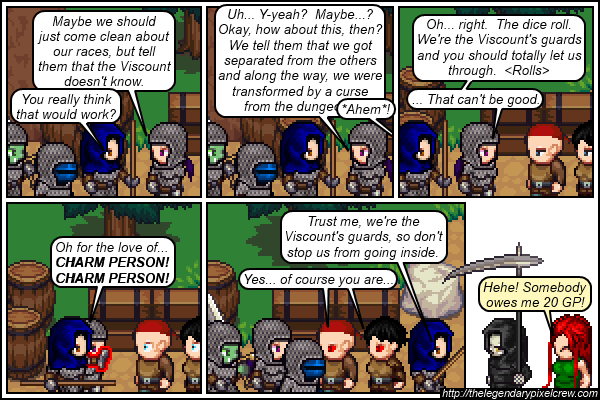 "Strip 579 - ""There's probably a legitimate way for a 5th lvl wizard to cast 2 Charm Person spells in rapid succession"""