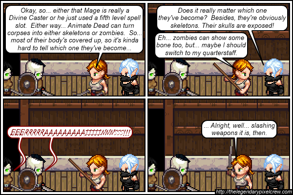 """Strip 627 - """"Hopefully, you weren't just outsmarted by a bunch of skeletons"""""""