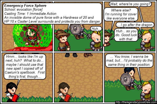 """Strip 677 - """"Going before the undead dragon in the Initiative Order"""""""