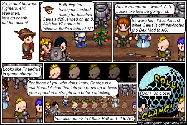 """Strip 101 - """"Phaedrus vs. Gaius - Round 1"""""""