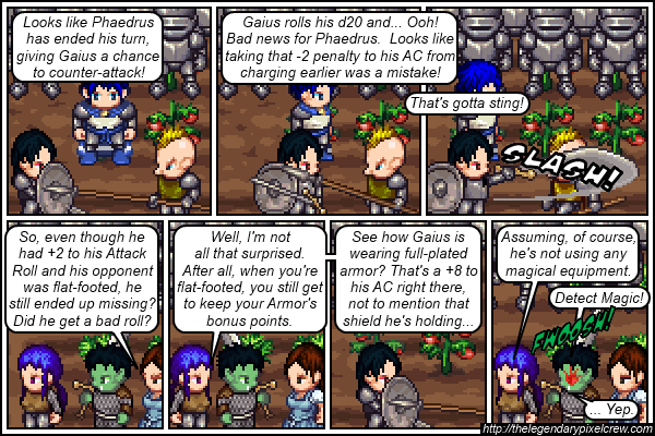 """Strip 102 - """"They have the same type of armor, though..."""""""
