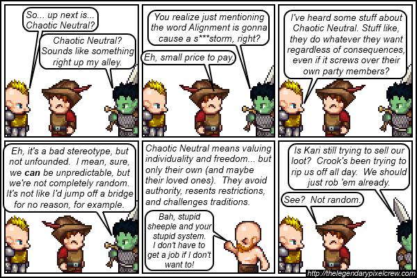 Strip 144 - Alignment Tutorial - Part 10 (Chaotic Neutral)