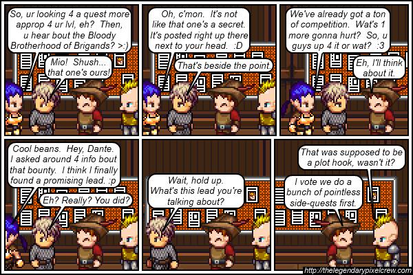"""Strip 168 - """"Accept Quest? Y/N?"""""""