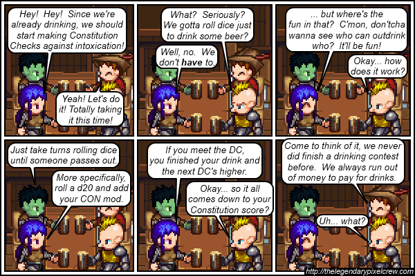 "Strip 194 - ""The Drinking Game"""